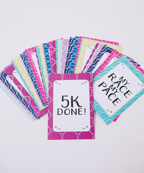 Milestone Cards 5K Fan