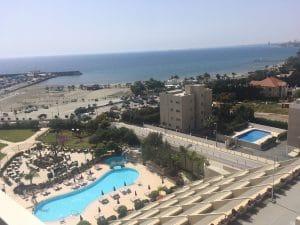 View of the pool at Run Mummy Run OPAP Limassol marathon