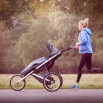 Mum Running with a buggy with Run Mummy Run