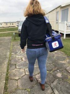 Run Mummy Run review Tracy walking with KitBrix kit bag