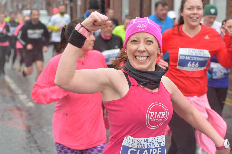 Claire Daniels Run Mummy Run Fist Pump