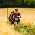 Woman running at Race to the Stones Run Mummy Run