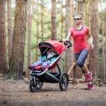 Woman buggy running for Run Mummy Run