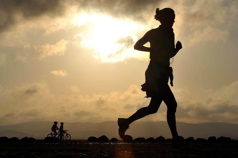 Woman runner marathon training Run Mummy Run